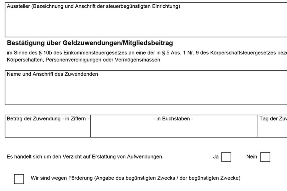 Spendenbescheinigung Vorlage Zum Download 3